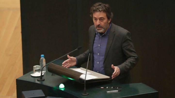 Mauricio Valiente durante su intervención en el Pleno