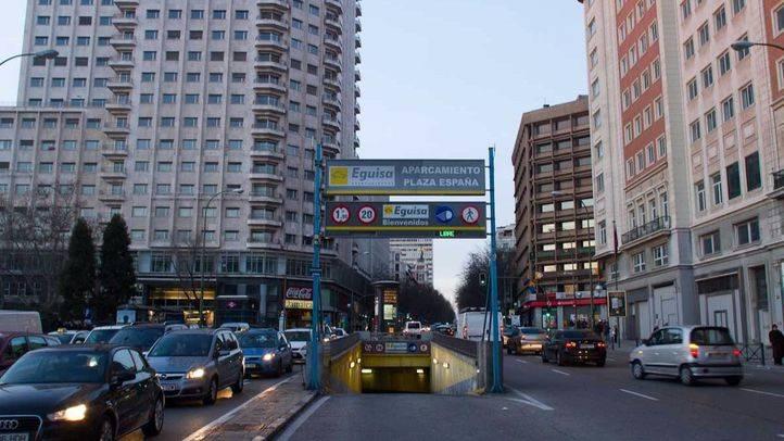 Entrada al aparcamiento subterráneo de la plaza de España