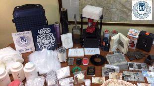 Los agentes se han incautado de más de dos kilos de cocaína