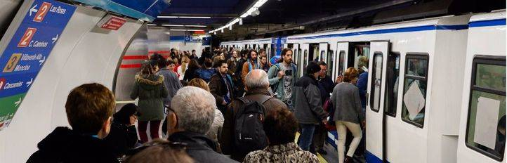 Metro de Madrid durante las jornadas de paro (Archivo)
