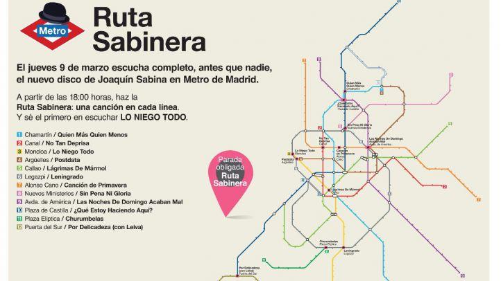 Ruta Sabinera: Sabina presenta este jueves su nuevo disco en el Metro