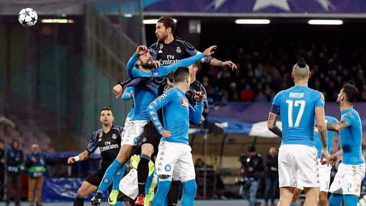 Dos goles del Sergio Ramos resucitan al Madrid en Nápoles