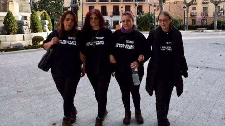 Representantes de Velaluz que secundaron la huelga de hambre en Sol