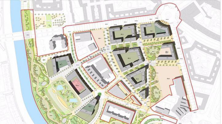 Plano del proyecto para el nuevo ámbito Mahou-Calderón
