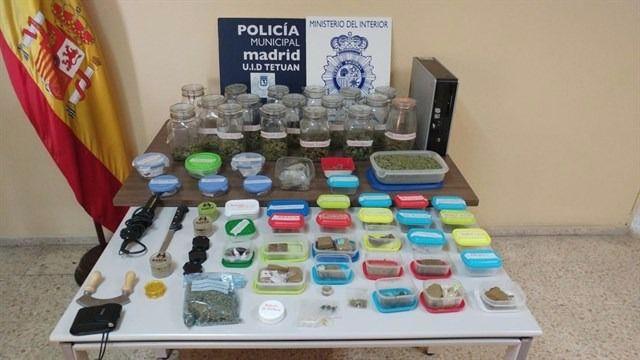 Sustancias requisadas en un 'club de fumadores' de Tetuán.