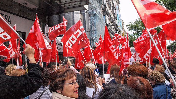 Manifestación de CCOO