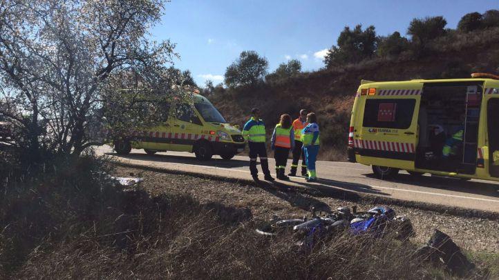 Un motorista pierde la vida en un accidente en Villar del Olmo