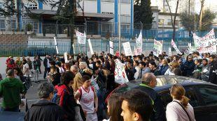 Manifestación contra el cierre del IES Pérez Galdós.