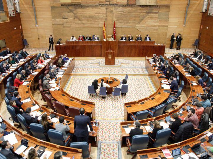 Pleno de la Asamblea de Madrid. (Archivo)