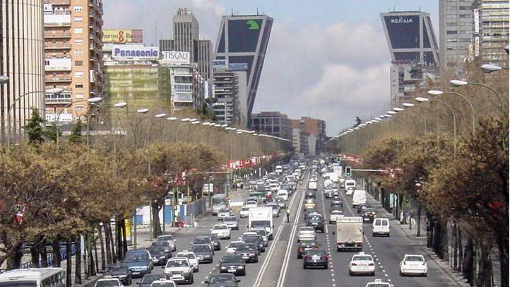 Un accidente de tráfico ha colapsado parte de la Castellana durante varias horas