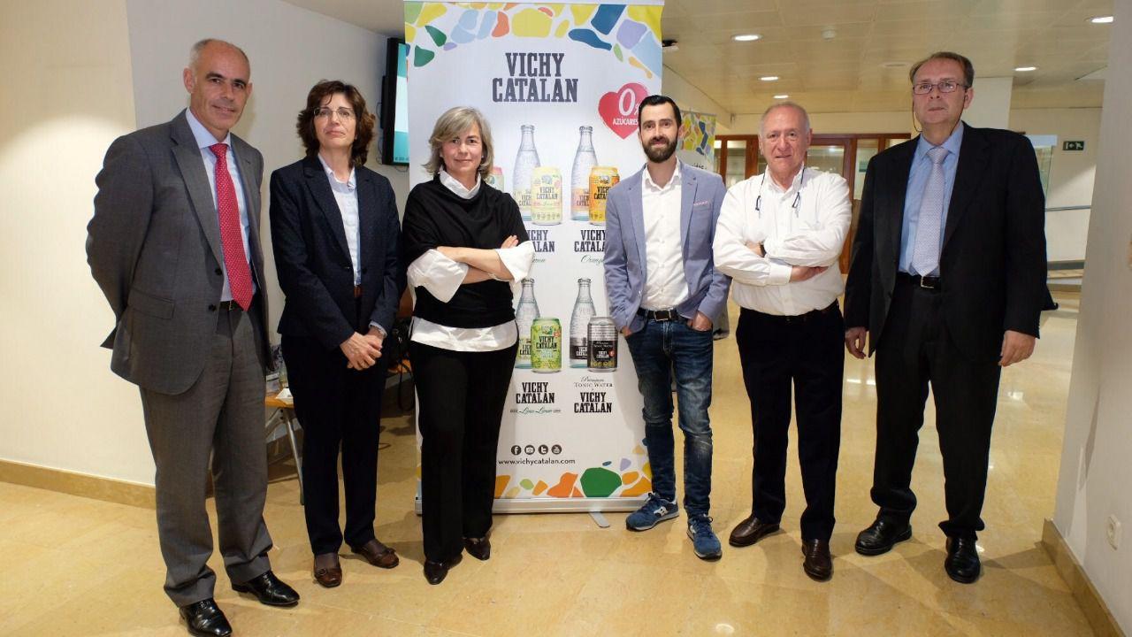 Presentación del estudio del CSIC Efectos del consumo de agua mineral natural carbónica Vichy Catalan en el Colegio de Farmacéuticos de Barcelona.