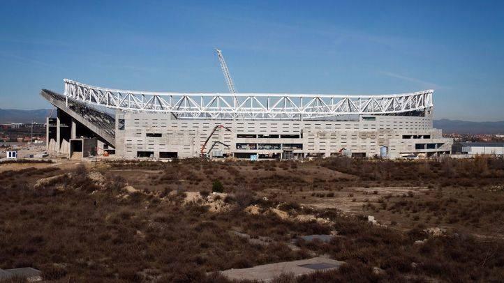 Obras en el antiguo estadio de La Peineta y futuro estadio del Atlético de Madrid Wanda-Metropolitano. (Archivo)