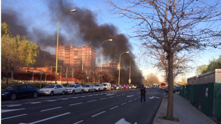 Susto en Mar de Cristal por un incendio en las obras de la línea 8 de Metro