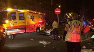 Un motorista resulta herido de gravedad al chocar contra una señal en Vicálvaro