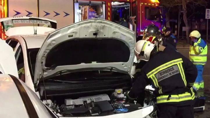 Muere al chocar su taxi con otro vehículo en Getafe
