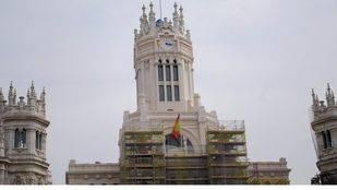 El Palacio de Cibeles, sede del Ayuntamiento de Madrid, en obras