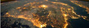 España, de noche desde el espacio