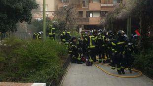 Incendio en un garaje subterráneo de Tetuán.