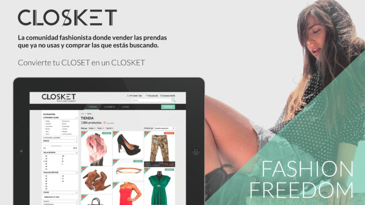 Closket, la plataforma online de compra y venta de moda de segunda mano