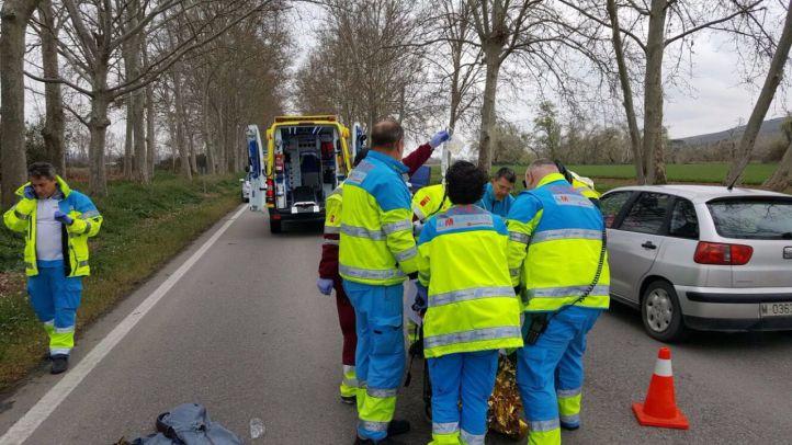 Atropello grave en la carretera de Aranjuez a Colmenar