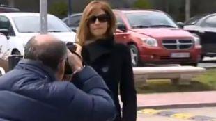La periodista Mariló Montero llega a la capilla ardiente