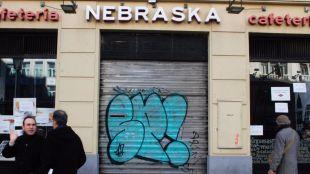 Cafetería Nebraska de la calle Alcalá 18, el día del cierre.