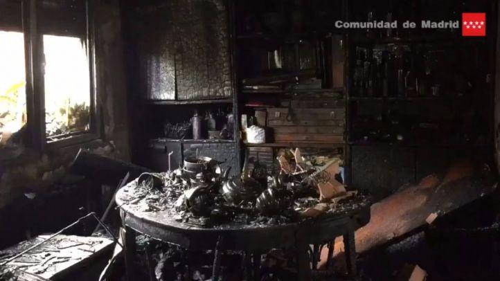 Un incendio en un chalé de Pozuelo deja dos afectados