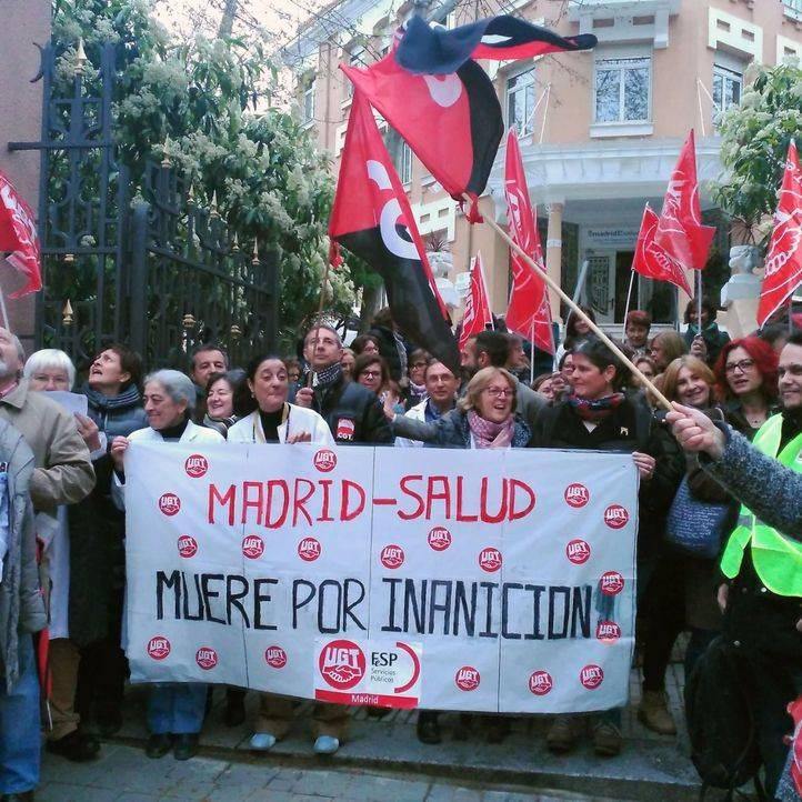 UGT, CCOO y CGT reivindican la precariedad de los centros de Madrid Salud