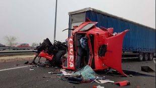 Dos camioneros, heridos en una colisión múltiple en Alcorcón