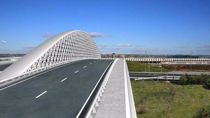 Recreación del futuro Puente de Valdebebas, que conectará la capital con la T4