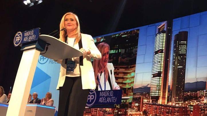 Cristina Cifuentes, en el último Congreso Regional del PP de Madrid. (Archivo)