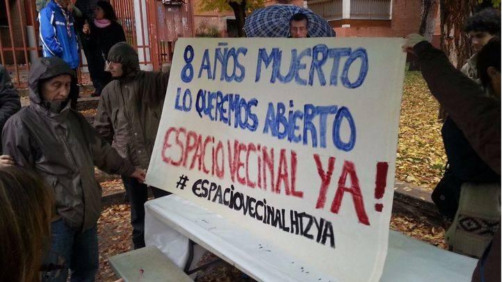 Colectivos y vecinos de Hortaleza reclaman su Espacio Vecinal