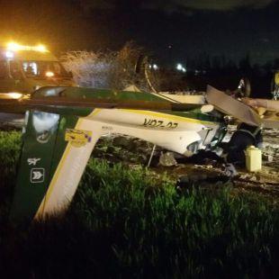 Dos heridos en un accidente de una avioneta en El Molar