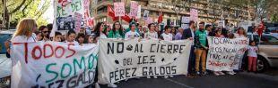 Manifestación contra el cierre del I.E.S. Pérez Galdós