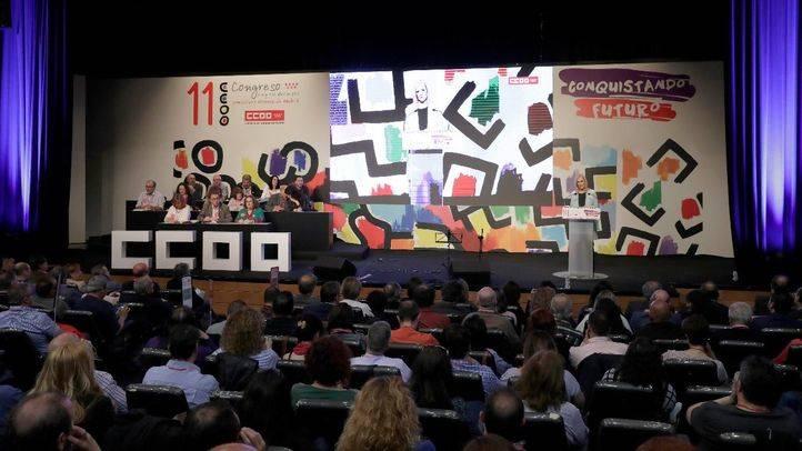 Celebración del XXI Congreso Regional de CCOO en Madrid
