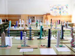 Concurso de maquetas de la 'torre más alta y sostenible de Europa' en el Colegio Sagrado Corazón de Fuencarral