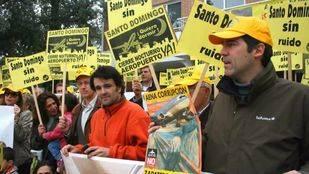 Protesta de los vecinos de la urbanización de Santo Domingo