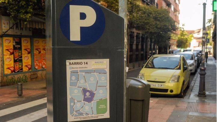 Parquímetros del SER (servicio de estacionamiento regulado). (Archivo)