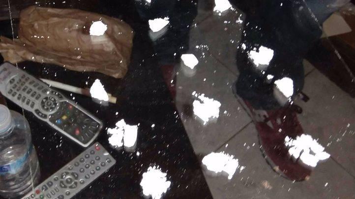 Droga encontrada en el registro del piso de Puente de Vallecas por la Policía Nacional