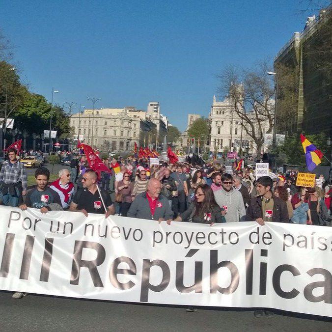 La marcha unitaria por la República, en Alcalá