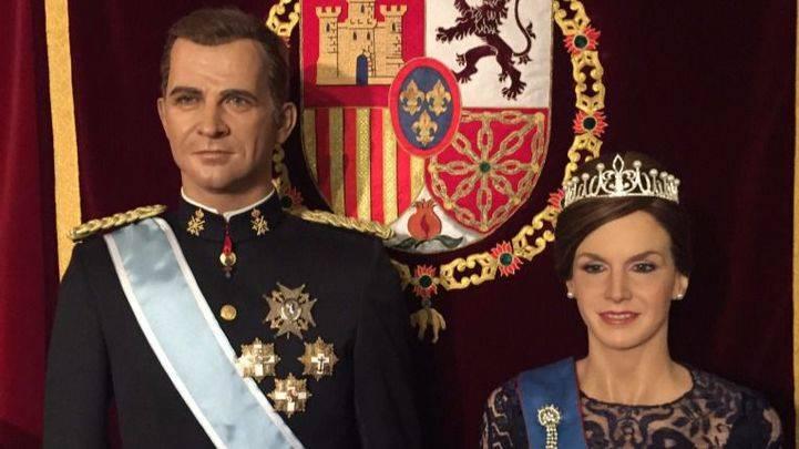 Las estatuas de los reyes de España en el Museo de Cera de Madrid