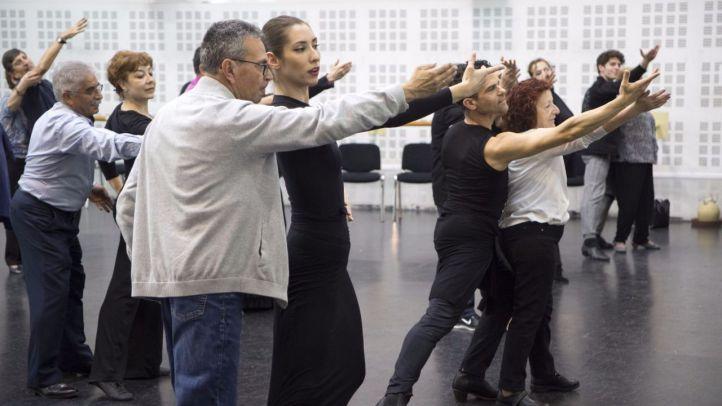 El Ballet Nacional, con los afectados de Parkinson