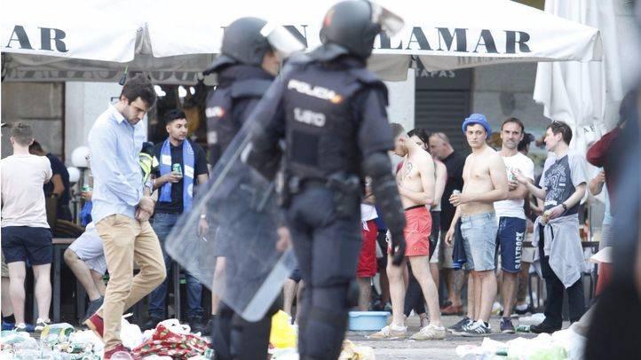 Los 'ultras' del Leicester vuelven a provocar el caos en la Plaza Mayor: hay dos detenidos