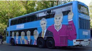 El 'Tramabús' de Podemos reanuda su marcha