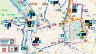 Dispositivo especial de transporte este domingo para el Maratón de Madrid