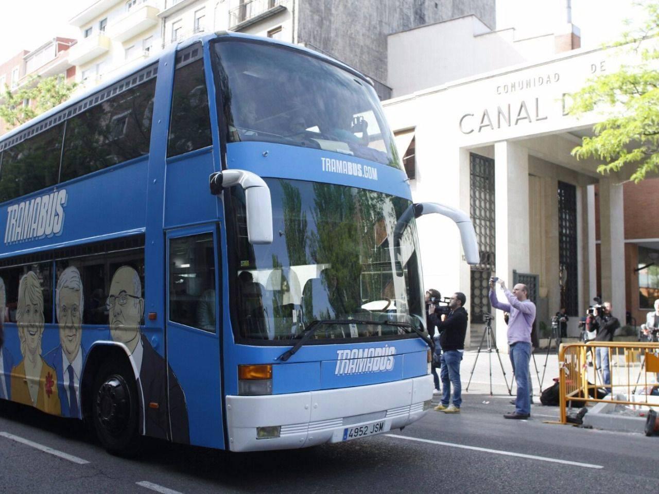 El 39 tramab s 39 cambia su ruta y visita la sede del canal de for Oficinas canal isabel ii madrid
