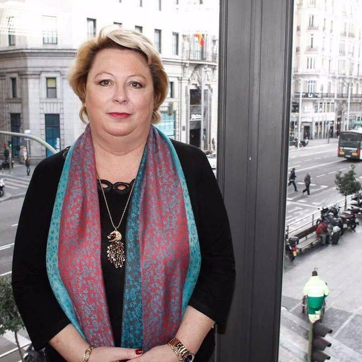 Josefa Aguado, en una entrevista cuando era concejala-presidenta del distrito de Barajas