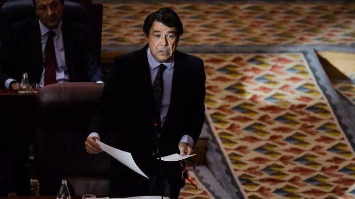 Ignacio González en el pleno de la Asamblea de Madrid.