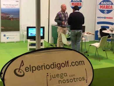 Stand de Elperiodigolf en Unigolf, la feria de golf de Ifema.