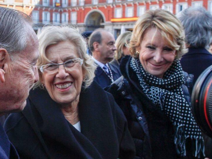 Manuela Carmena y a Esperanza Aguirre, en una foto de archivo.